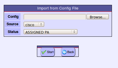 Import Configuration File